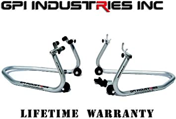 Universal Front and Rear Motorcycle stands for Ninja ZX6r 636 ZX10r ZX14r ZX14 CBR 600rr 1000rr GSXR 600 750 1000 Yamaha R1 R6 MT10 MT09 MT07 Hayabusa SV650 SV1000