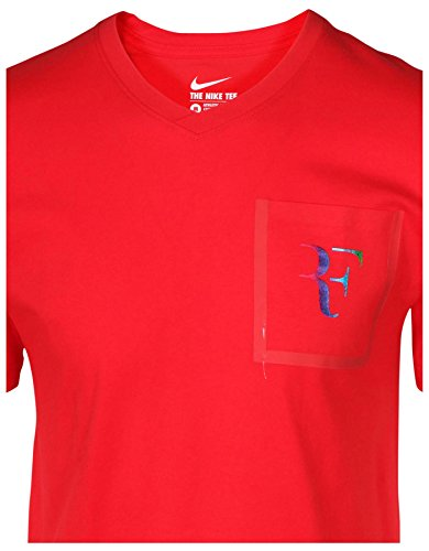 Manches university Pkt Courtes Homme shirt Tee Stealth Nike Rojo Roger Red Pour q6fvwFYXW