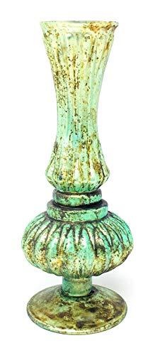 "Vase Bud Victorian (Serene Spaces Living Verdigris Glass Bud Vase, Vintage Style Vase, Measures 7"" Tall and 2.75"" Diameter)"