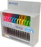 "Toys : Westcott 5"" School Pack of Kids Scissors with Anti-Microbial Protection, Blunt, Assorted Colors (Pack of 12)"