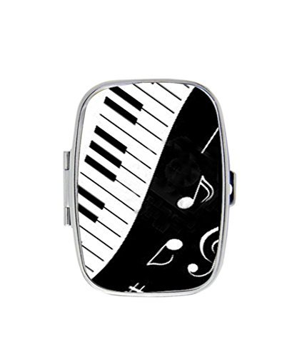 Musical Notes Piano Keyboard And Music Notes Personalized Custom HOT Sale stainless steel Pill Case Box Medicine Organizer Gift Box