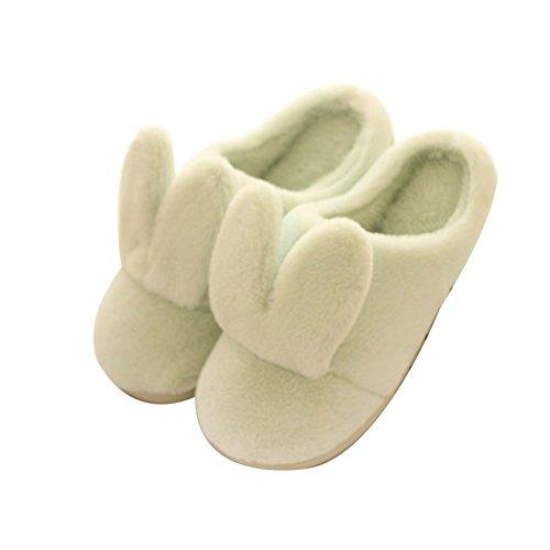 TELLW Cute Dicke Winter Baumwolle Schuhe Männer Weiblich Anti-Skid Zuhause Green