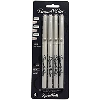 Speedball 2880 Elegant Writer 4 Calligraphy Marker Instructional Set