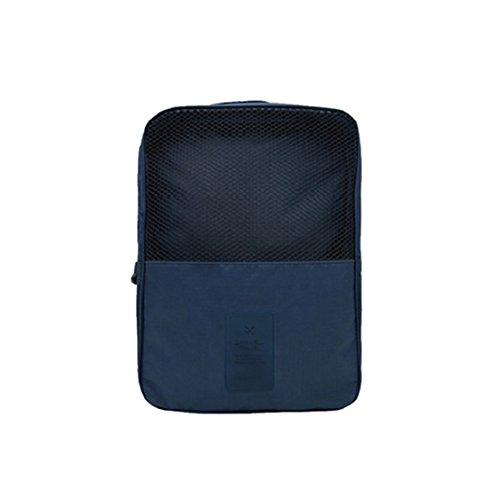 Portable Travel Shoe Bags with Zipper Closure, Convenient For Packing System for Your Shoes, Space Saver Bag, Protect Shoes From Dirt And Smell Of Your Shoes. (Navy)