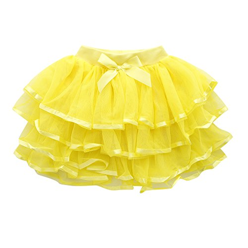 Yellow Tiered Skirt - 5