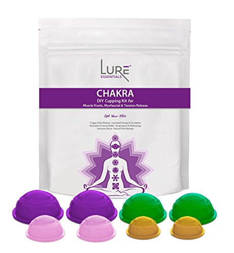 CHAKRA Cupping Therapy Set for Myofascial, Trigger Point, Back Pain, Muscle and Joint Pain