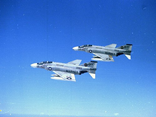 - Photography Poster - Vietnam. Two F-4b phantoms of VMFA-542 Marine Aircraft Group-11 1st Marine Aircraft Wing DaNang RVN on their way... 17.5