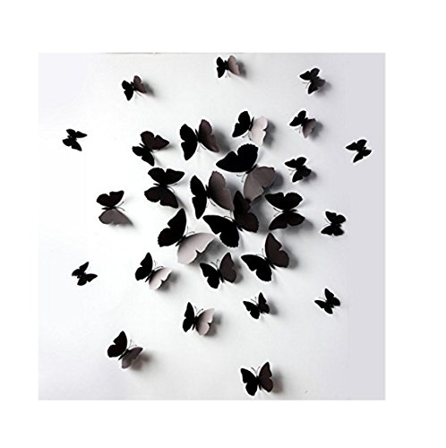 JASSINS Black Butterfly Removable Stickers product image