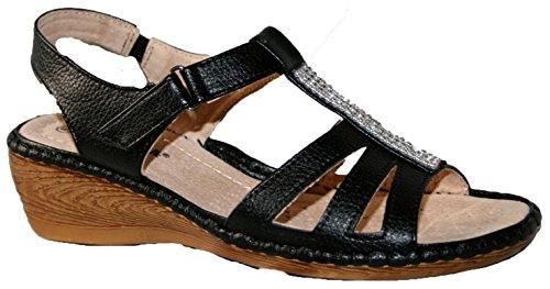 Cushion Walk - Sandalias de vestir de Material Sintético para mujer diamante negro
