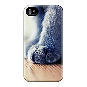 Iphone 4/4s Case, Premium Protective Case With Awesome Look - Grey Paws