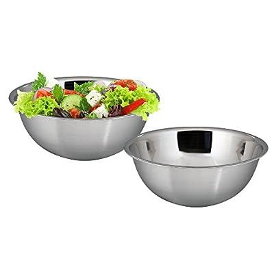 Kosma Set of 2 Stainless Steel Mixing Bowl | Salad Bowl