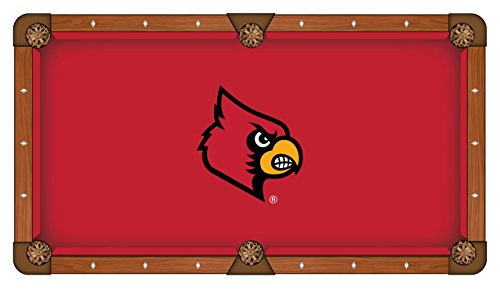 Louisville Cardinals HBS Red with Cardinal Head Billiard Pool Table Cloth (7') -