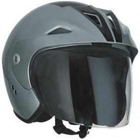 Helm SPEEDS Jet Sportive schwarz//silber gl/änzend Gr/ö/ße XL