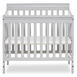 Dream On Me Aden 4-in-1 Convertible Mini Crib, Grey
