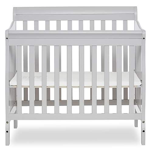 Dream On Me Aden Convertible 4-in-1 Mini Crib, Grey