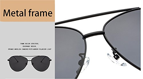 en HD grenouille sauvage hommes de femmes air lunettes miroir LHRAN plein polarisé Noir Mode en métal soleil et v84pqFfwp