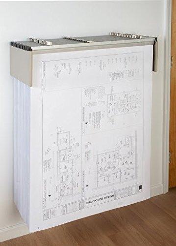 Sheet File Drop Lift Wall Rack for Blueprints