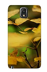 Tpu Zeetriodecol Shockproof Scratcheproof Yellow Leaves Hard Case Cover For Galaxy Note 3 For Lovers