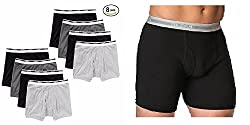 Gildan Men's Boxer Briefs 8 Pack (Medium 32-34)