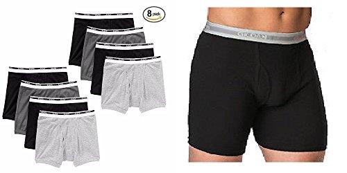 Gildan Men's Boxer Briefs 8 Pack (Medium / 32-34) (Male Underwear Boxer Briefs)