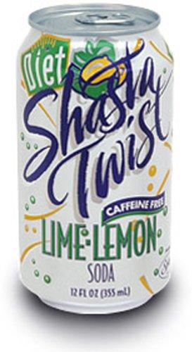 Shasta Diet Lime Lemon Twist Soda, 12-Ounce Cans (Pack of 24) (Lemon Lime Diet)