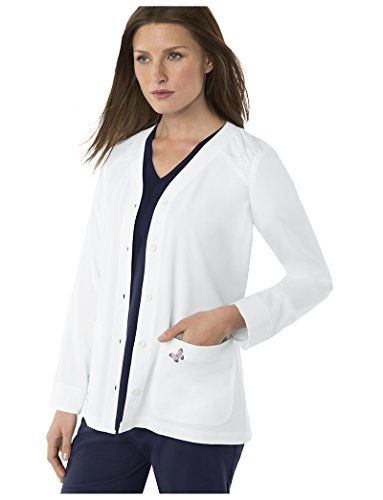 Mariposa by Koi Women's Lisa Button Front Jacket- White- Medium