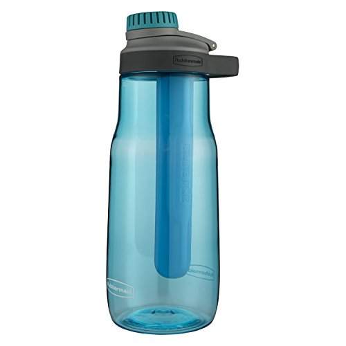 Rubbermaid Leak-Proof Chug Water Bottle with Blue Ice Stick,