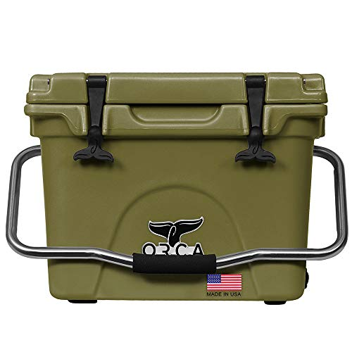 ORCA ORCT040 Cooler with Extendable flex-grip handles for comfortable solo or tandem portage, 40 quart, Tan