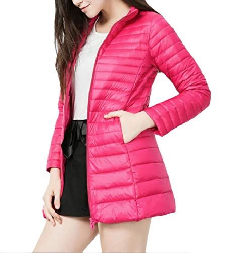 Down 6 Plus Winter Hoode Size RkBaoye Slim Fall Lightweight Warm Coat Women RUwq7Pz