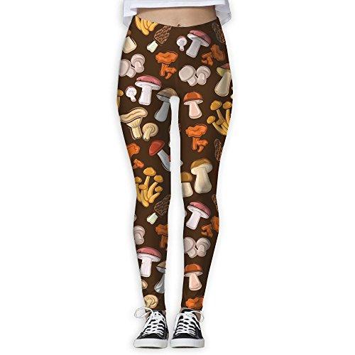 Gask-L Vintage Mushroom Health Fitness Yoga Pants Leggings ()