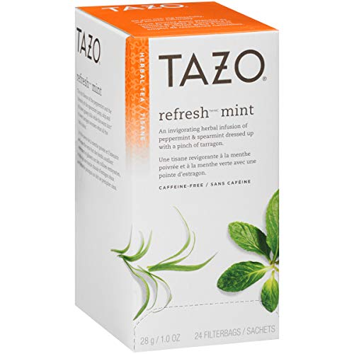(Tazo Hot Tea Filterbag Refresh Mint 24 count, Pack of 6)