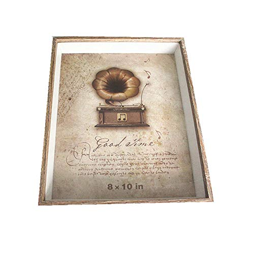 leoyoubei 8x10 Inch Shadow Box Frame rectangular with glass front (Slide pin) Perfect to Display Memorabilia, Awards, Medals, Tickets,Plant specimen and Photos baby birth Memorial frame (Wood color-C)