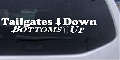Tailgates Bottoms Country Window Sticker