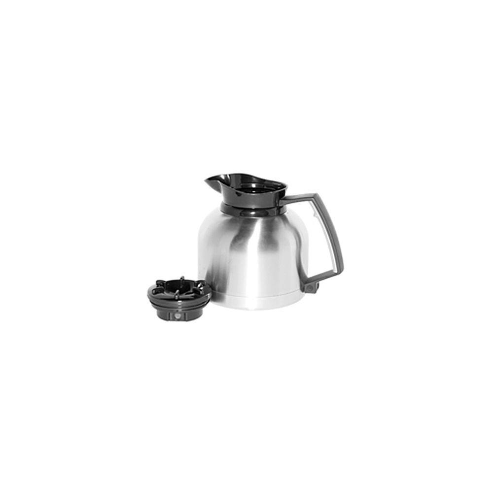 Service Ideas BNP19V2 Brew 'N Pour Carafe, 1.9 Liter (64.2 oz.), Brushed Stainless/Black Accents