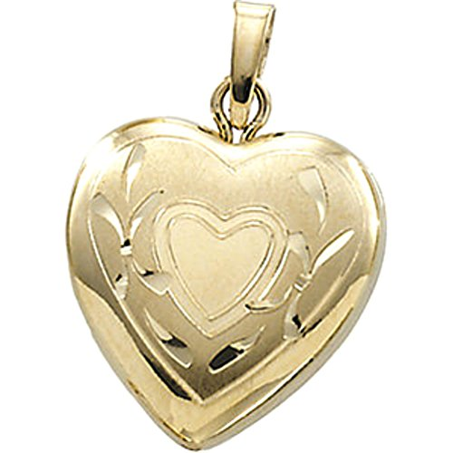Petite 14k Yellow Gold Heart Locket by The Men's Jewelry Store (for HER)