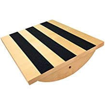 Professional Wooden Balance Board Calf Stretcher, Foot Rocker Board for Injury Rehabilitation Exercise and Core Strength Training - Ideal Physical Therapy Equipment. Capacity of 300Lbs