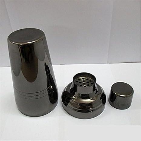 Compra YIZHANGCocedor de Vino de níquel Negro de Acero Inoxidable Matraz de Cadera de Estilo japonés Estufa de Tres etapas Coctelera de Lujo en Amazon.es