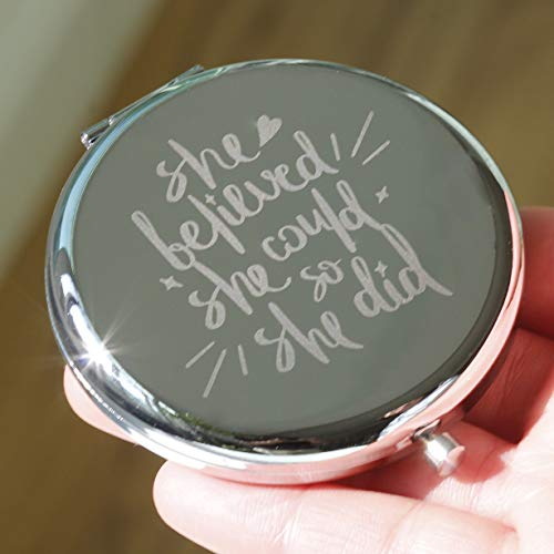 She Believed She Could So She Did-Inspirational Makeup Mirror,Gift for Boss Lady - Creative Ideas Bathroom Mirrors