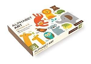 Petit Collage Alphabet Art Cards, Animals A-Z