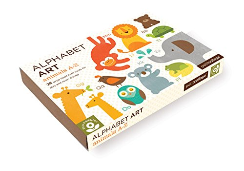 Petit Collage Alphabet Art Cards, Animals A-Z