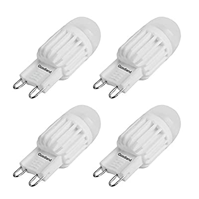 Goodland's Dimmable G9 Ceramic LED Bulb,AC110-130V 3.5W, High Power Energy Saving Replace Halogen Lights