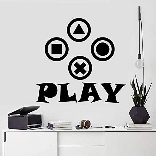zhuziji Gamer Wall Decal Controlador de Video Decal Gamer Gift ...