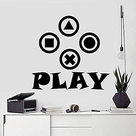 zhuziji Gamer Wall Decal Controlador de Video Decal Gamer ...