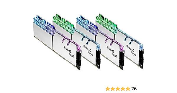 G.SKILL 32GB DDR4 Trident Z Real Plata 3200 MHz PC4-25600 CL16 1.35V Kit de Canal cuádruple (4x8GB)