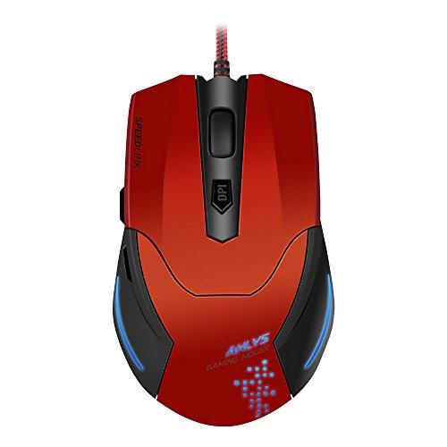 Speedlink AKLYS Gaming Maus (5-Tasten, 2000 dpi) schwarz/rot