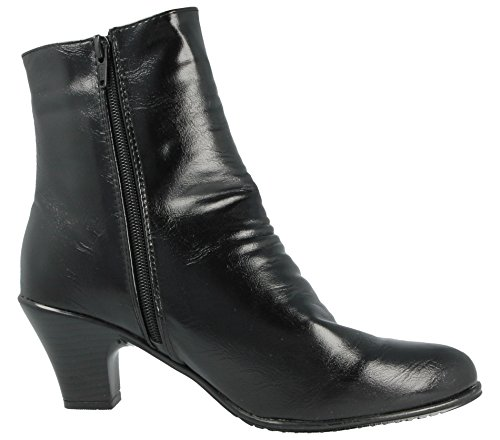 Black Womens Cushion Zip Boots Denise Fashion Black Side Walk Zip xpSS5qwRY