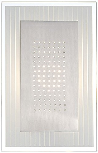 Lite Source Flynn LED 1-Light Wall Sconce, Polished Steel/Frosted