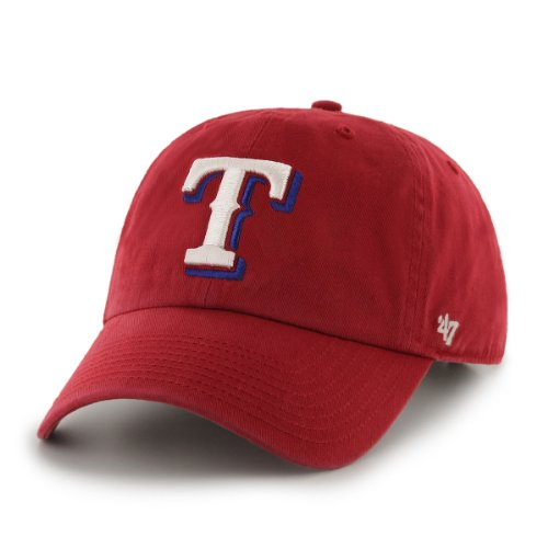 MLB Texas Rangers Men's Clean Up Cap, Red