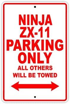 Placa de aluminio para señalización de garaje KAWASAKI NINJA ...