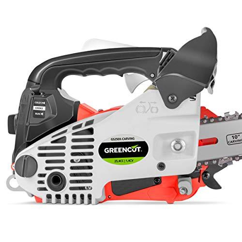 Greencut GS2500 10 CARVIN - Motosierra de gasolina, 25,4cc - 1,4cv, espada 10